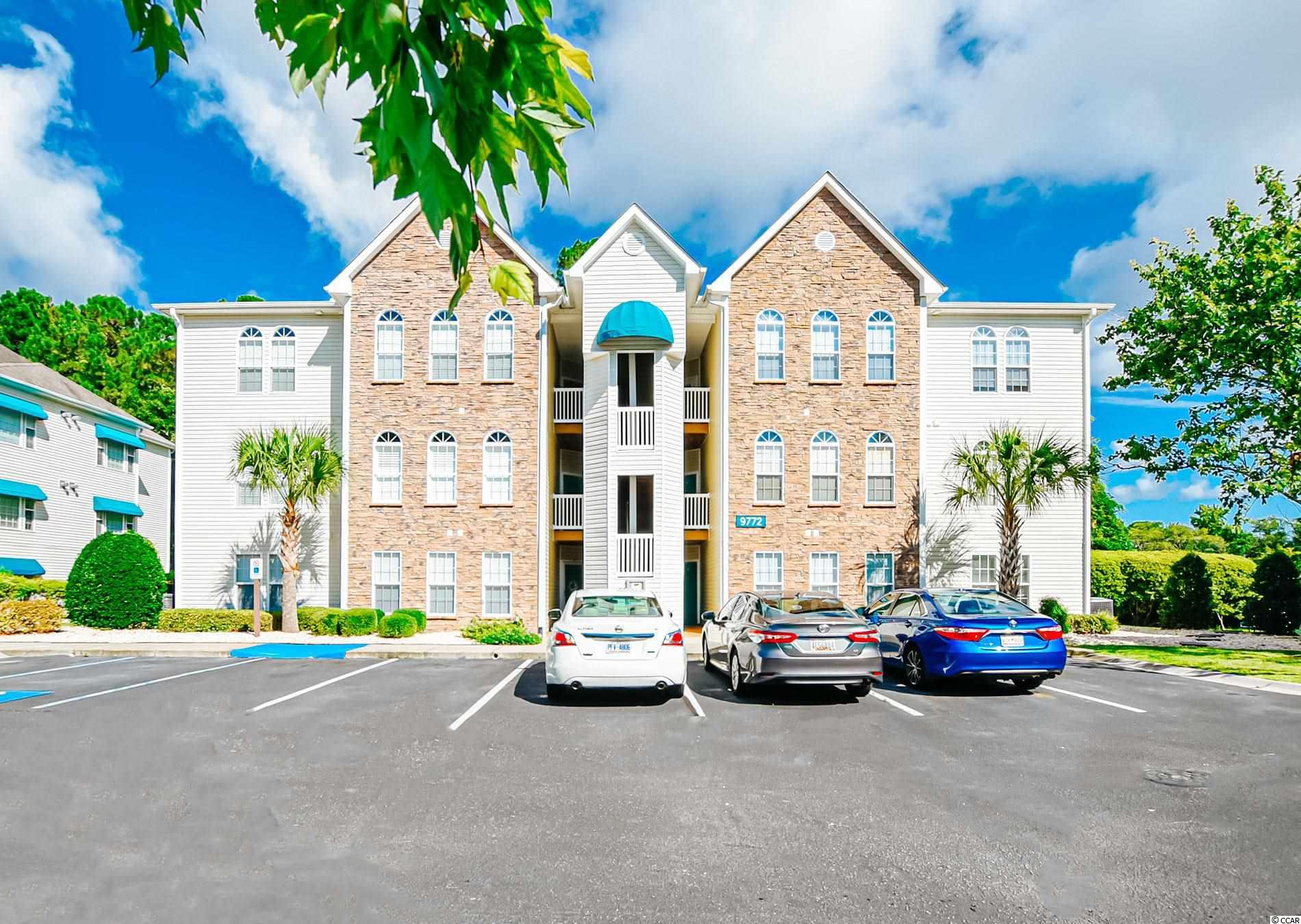 Here's your new fully furnished 2 bedroom 2 bath condo with a Carolina Room in one of the most sought after locations in the Arcadian area in the gated community of Savannah Shores. You will love these oversized bedrooms and walk-in-closets.  Relax in your spacious living room with fireplace and vaulted ceilings or sip your favorite hot beverage while reading a novel in the bright light of your Carolina Room.  And later go down and enjoy the outdoor amenities including a pool, clubhouse, tennis courts, volley ball, putting green, or playground.  Prime location for a short golf cart ride to the beach, shopping, activities.  Golf cart friendly development with gas or electric allowed for a small permit fee. And there are Electric Charging stations available at locations in the development