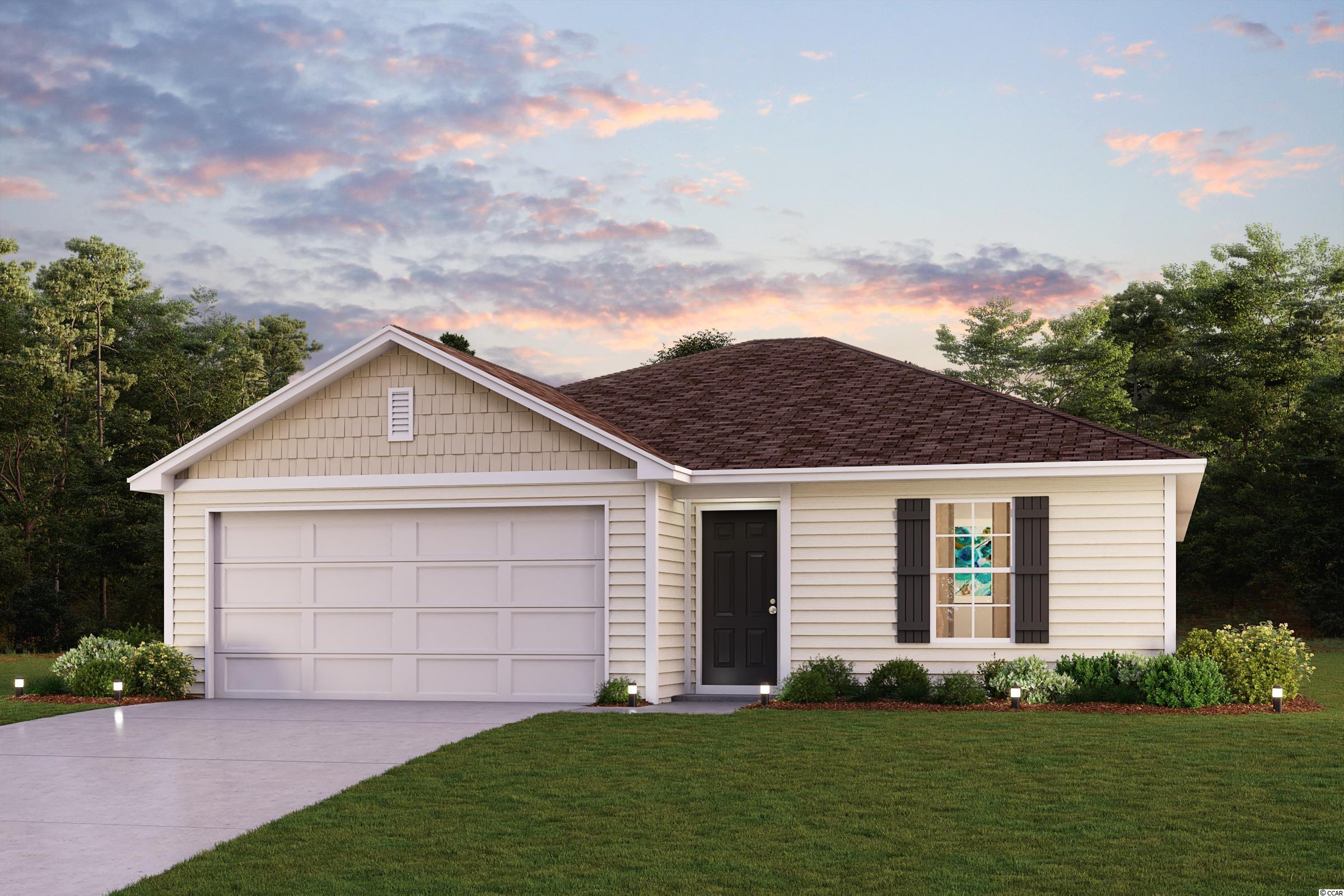 Welcome home to this NEW Single-Story Home in the Loblolly Community! The desirable Concord Plan boasts an open design encompassing the Living, Dining, and Kitchen spaces. The Kitchen features gorgeous cabinets and granite countertops and Stainless-Steel Appliances (Includes, Range with Microwave hood, and Dishwasher). Additionally, the primary suite has a private bath with dual vanity sinks and a walk-in closet. This home also includes 3 more bedrooms and a full secondary bathroom. Outside, there is a relaxing Covered Patio space.