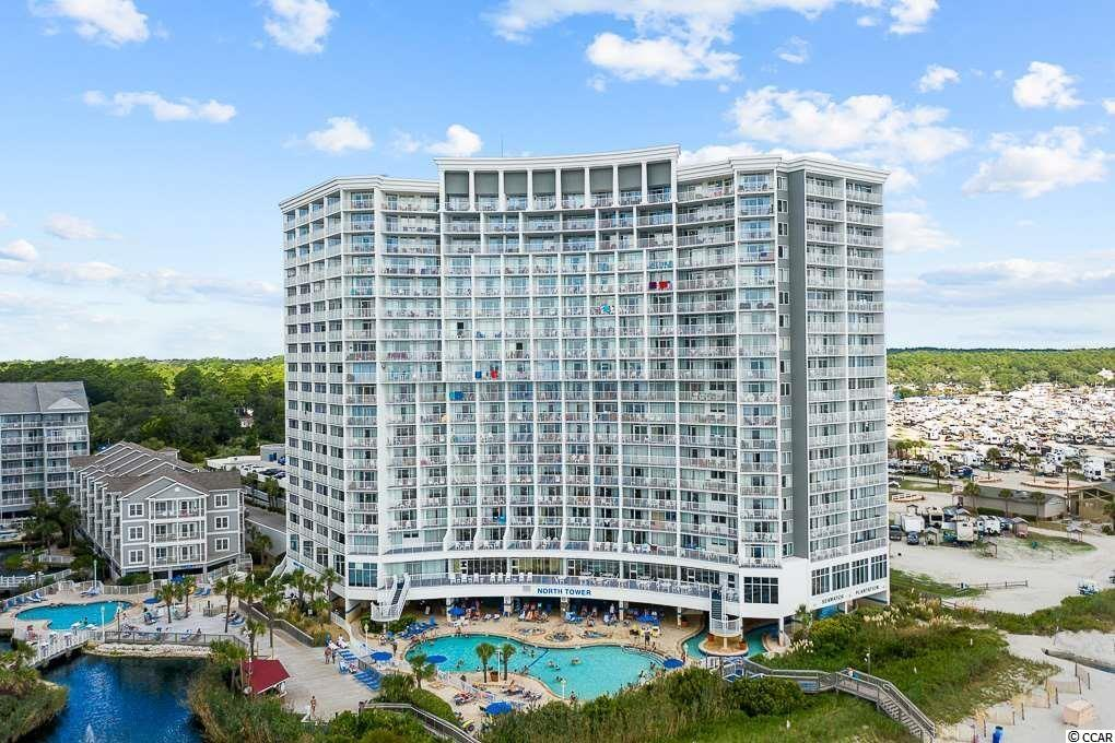 Desirable DIRECT OCEANFRONT 1 bedroom suite in SeaWatch North Tower! This 7th floor beauty is fully furnished and offers a full kitchen with appliances, bathroom, living area, dining table, and a bedroom with gorgeous views up and down the coastline. SeaWatch sits on 10 acres and offers and abundance of amenities:  4 outdoor pools, 2 indoor pools, 10 hot tubs, 2 lazy rivers, oceanfront restaurant/lounge, a health club, seasonal ice cream shop, a seasonal Tiki bar and a beautiful Caribbean-themed lobby. Conveniently located near shopping, dining, golf, entertainment, and all area attractions. Close to Restaurant Row, the Tanger Outlets and Barefoot Landing!