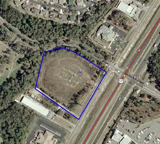 The best corner in Horry County is now on the market and available for long term lease. 4.1 acres at signalized corner of 17 Bypass and Garden City Connector @ Indigo Creek Golf Course. A bargain ground lease. 37,100 cars per day. Site is just across the bypass from Food Lion Center and is ready to be developed as soon as possible.