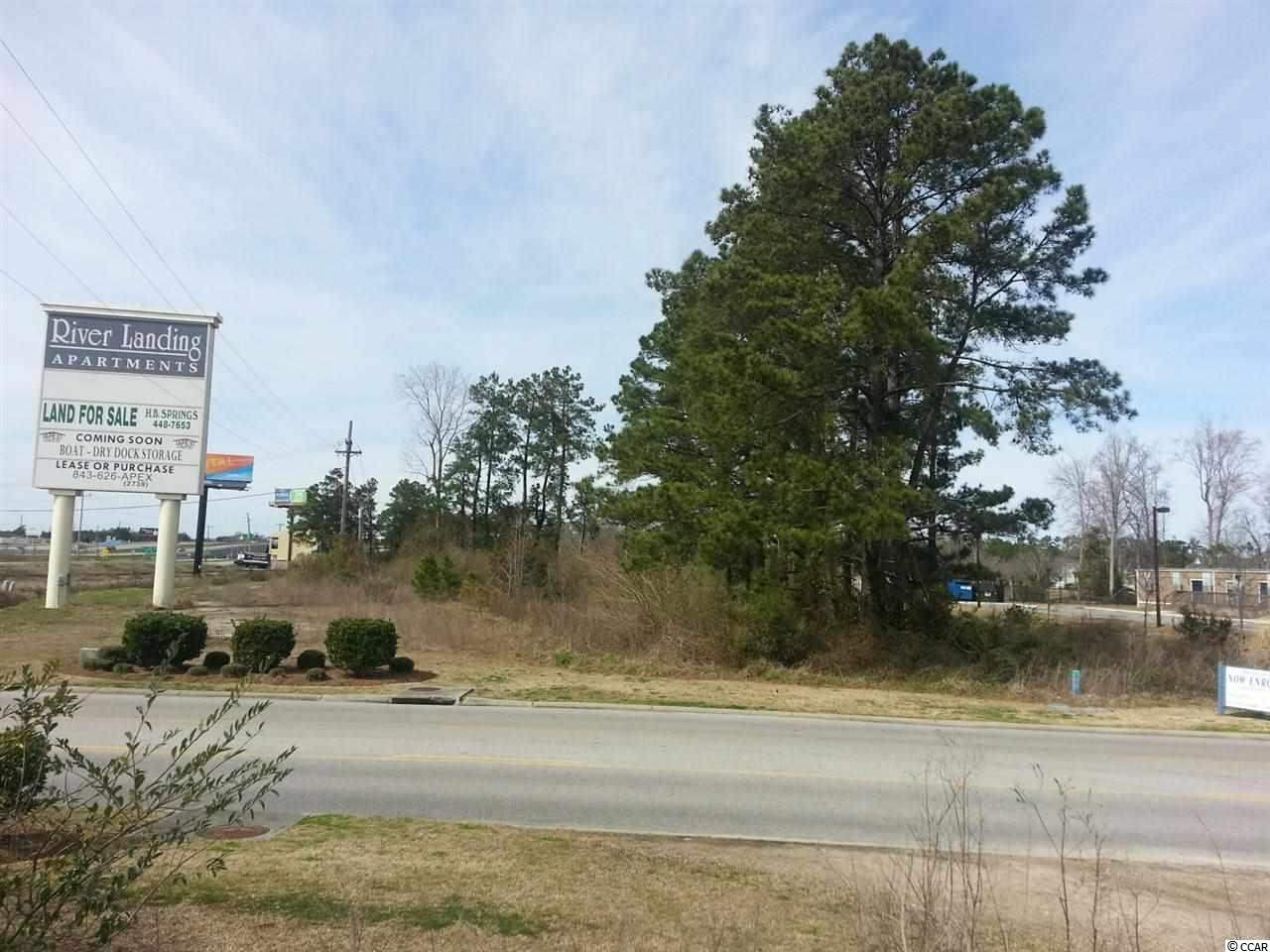 CORNER LOT 1.4 Acre right off Hwy 501 and Waccamaw Blvd. Located close to the Waterway, River Oaks golf course and Bridgewater Academy. Prime commercial property zoned Resort Commercial.
