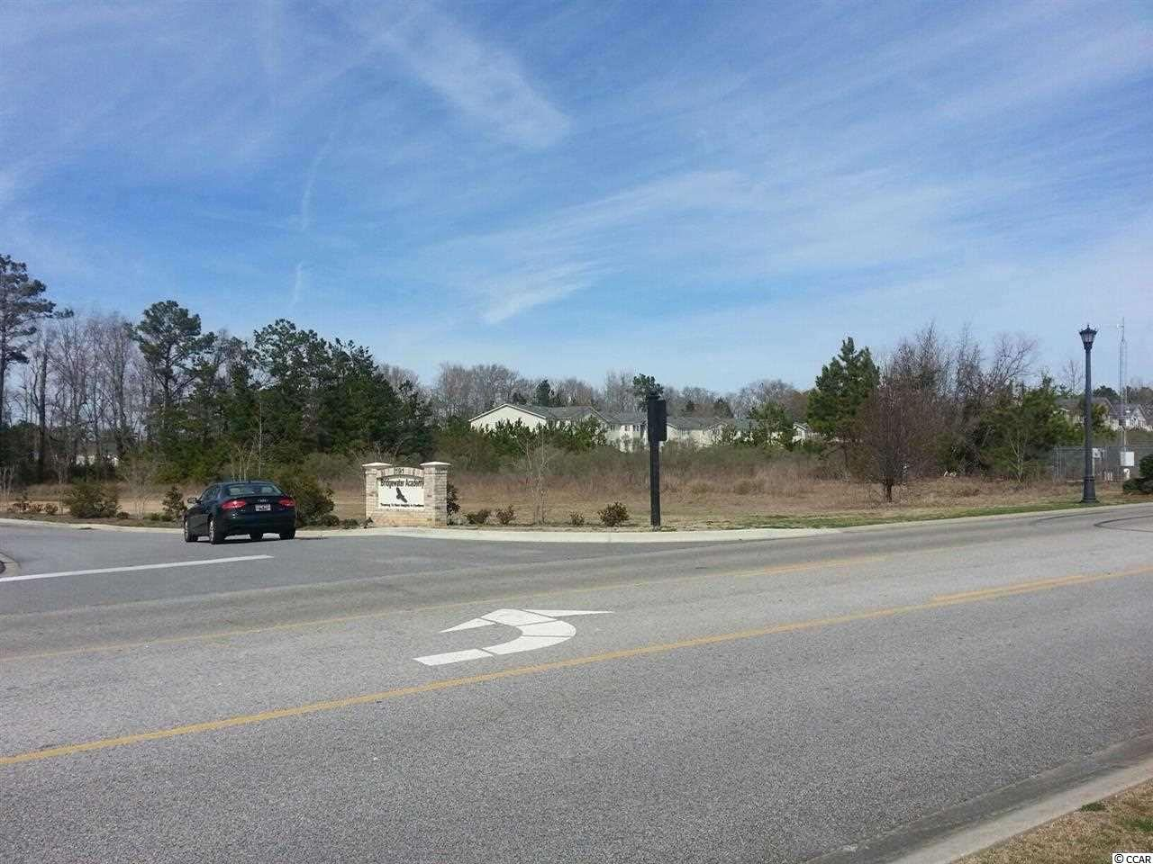 2.5 Acre Lot right off Hwy 501 and Waccamaw Blvd. Located close to ICW, next to River Landing Apartments and Bridgewater Academy. Site zoned Resort Commercial.