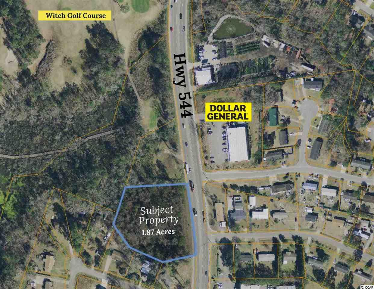 This property is almost 2.0 acres in size and is located between the Socastee Community and Coastal Carolina University. There is a lot of growth potential in this area especially with the continued growth of the College and the Technical College. The property has over 300 ft of road frontage and is zoned RE3 which allows a lot of commercial uses.