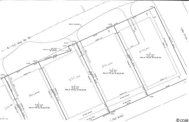 .84-AC lot in Cedar Creek Professional Center.  5 lots zoned professional at Hwy. 90 & Hwy. 17 in Little River facing 17 Business.  Lots have light restrictions.  Near Seacoast Medical Center.