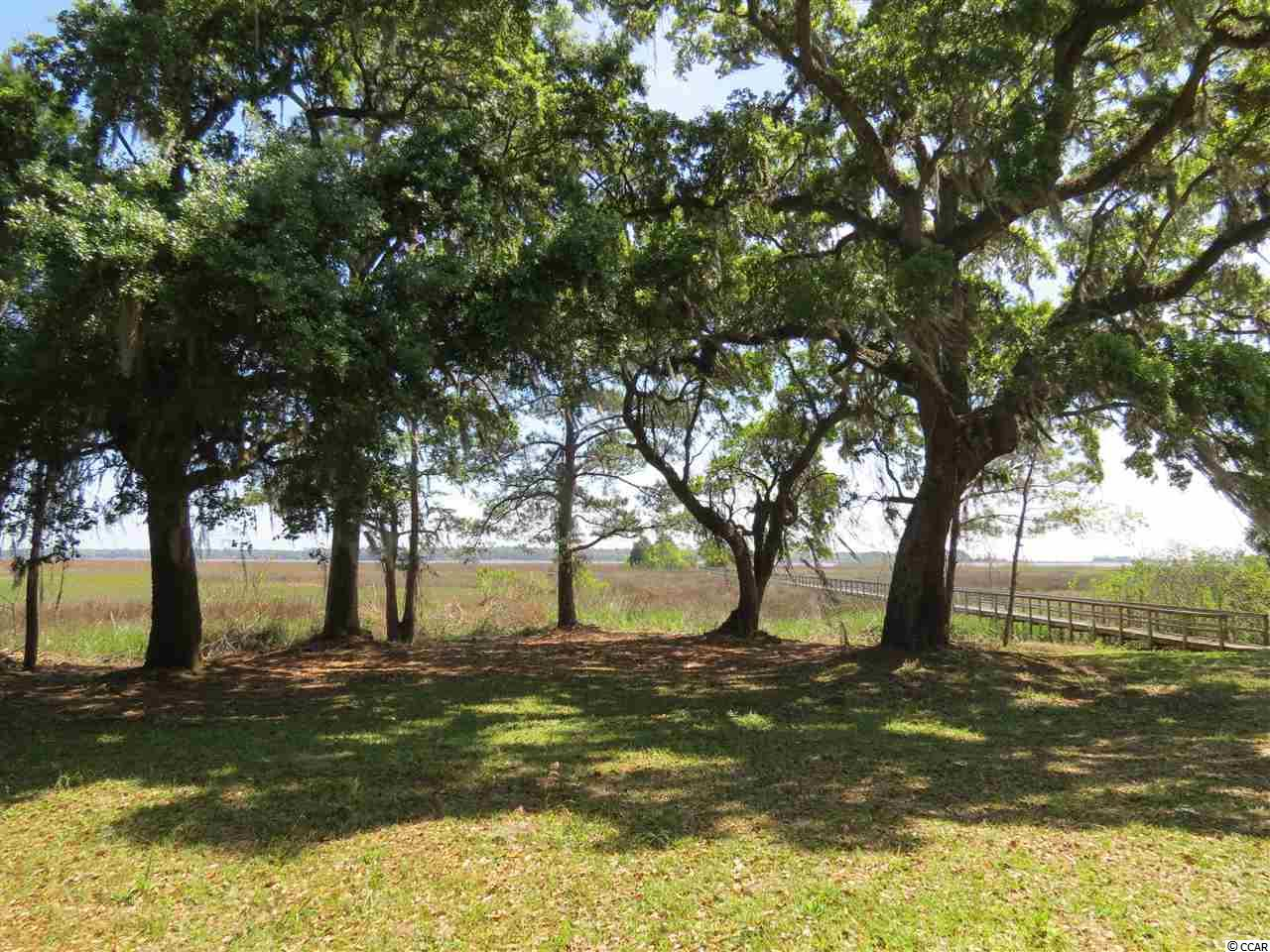 Whitehall Plantation, Georgetown. Gated Historic Plantation setting with only six 2+ acre home sites in the community. As you drive through the beautiful landscaped brick entrance and through the historic live oaks to the end of the road you will find this home site consisting of 18.7 acres with approx. 1.5 acres high ground and the balance in bay marsh with a navigable creek and dock. Beautiful views of the bay, Intracoastal Waterway, views of the Waccamaw River Bridge in the distance and views of Belle Isle Marina. Whitehall Plantation offers a community boardwalk out into Winyah Bay with a floating dock.