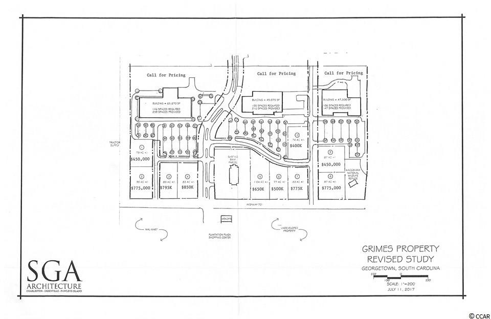 Northgate of Georgetown - a commercial park with outparcels for sale across from Wal-Mart, with nearby retailers including Belk, Tractor Supply, and Dollar Tree. Suitable for restaurants and retailers. High traffic count and growing demographics.