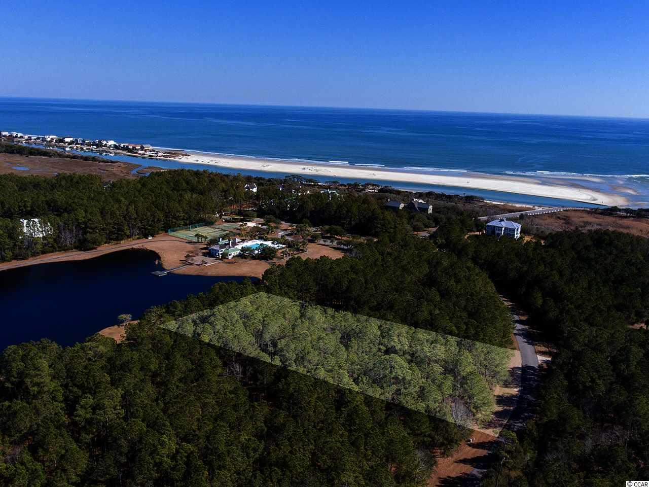 This homesite is located in the gated community of Prince George Oceanside. Overlooking the beautiful Ocean Clubhouse and lake, the homesite is just a short walk away from the ocean amenities including pool, tennis, basketball, volleyball, and playground. With private beach access, Prince George is a one-of-a-kind location on the East Coast. This homesite has been flagged on all corners and cut for easy access to view the lot. High and dry - ready to build on.