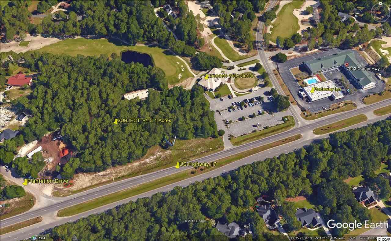 +/- 3.15 acres, +/- 500 feet frontage.  Traffic Count 2016; 27,500.  Georgetown County zoning, permitted uses apply to the General Commercial ordinance and is further subject to an Overlay District.    U.S. Highway 17 is a four lane thoroughfare with grass median.  Two nearby center median cuts provide ease of access for both north and south bound traffic.