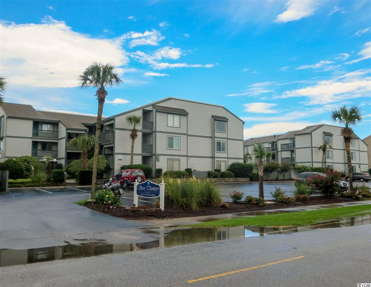 Closing scheduled for 12/6/19. For the discerning oceanfront buyer who wants superb views, amenities, location, and accommodations the only choice is 303B Sea Cloisters I. Positioned in the desirable north end of the Town of Surfside Beach this three bedroom, two bathroom, approximately 1123 heated square foot top floor corner condominium is ready to be your personal respite or income producing rental investment. Sea Cloisters I comprises over an acre of the oceanfront real estate including ample parking, a generous pool, and a well-maintained grounds and buildings. The interior features tile flooring in the living and bathroom areas, carpet in the bedrooms and fresh paint throughout the unit. With access from the living room and master bedroom, the 13x8 balcony offers uninterrupted panoramic views from Myrtle Beach to Garden City Beach, perched above one of the most beautiful stretches of beach along the Grand Strand. This property sells turnkey, wholly furnished ready for you to enjoy. Why rent when you can own your very own piece of the beach.