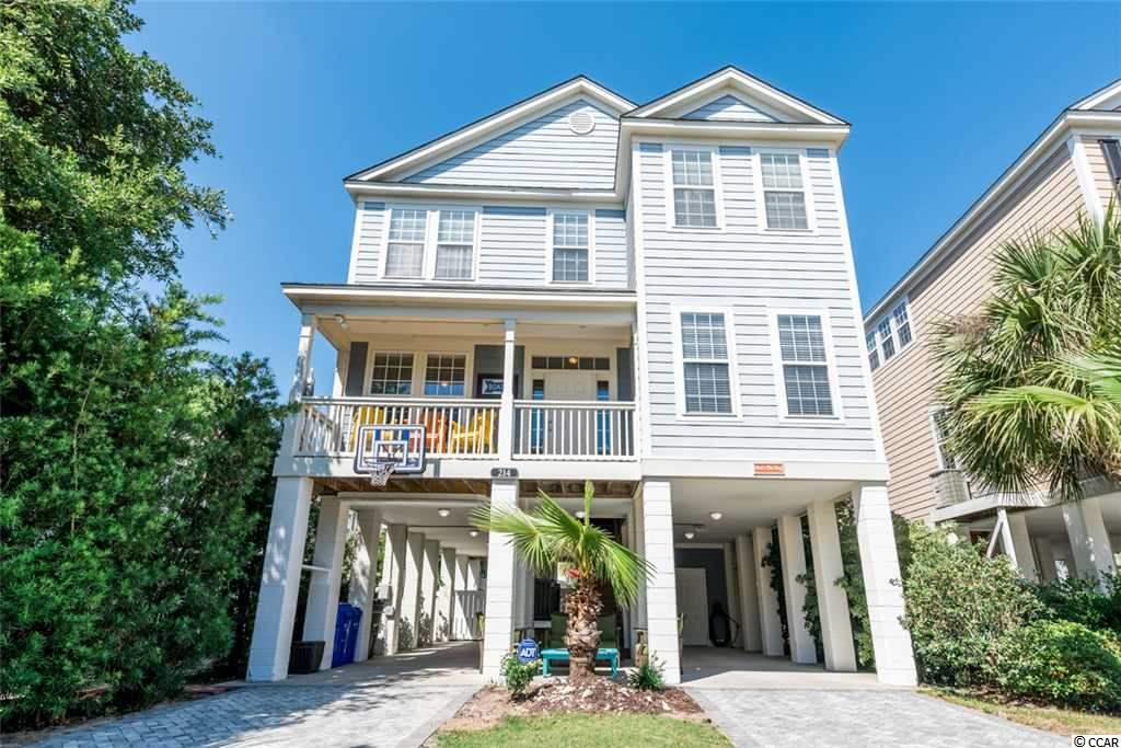 Immaculate, Gorgeous, Turn Key 6 Bedroom, 5.5 Bath home with Large Private (Heated) Pool and fenced in yard located only 2 blocks from Ocean in Surfside Beach. 2 living room areas up and down! Spacious and inviting layout! Sleeps 18! This home is currently used as a second home/ vacation rental. Flood insurance is not required on this home and homeowner only pays flood insurance by choice. This is a FIND! Don't miss it!