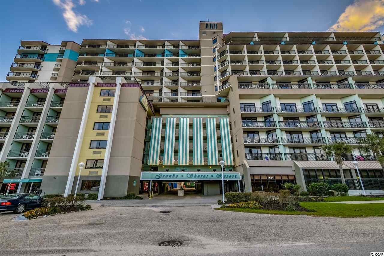 You must see this beautiful 3BR/2BA ocean view unit located at Grande Shores in the Northern End of Myrtle Beach.  This unit features gorgeous granite kitchen countertops, tile backsplash, tile throughout the enteryway and kictchen, HVAC replaced in 2016,  large balcony with amazing view of the ocean and pool deck.  Amenities include: oceanfront pool deck with pool and lazy river, elevated ocean view pool deck on the 7th floor with pool, (4) hot tubs and lazy river, indoor pools and hot tubs, Shoreline cafe and fitness facilities.  If you are looking for a 3BR this is a great price!