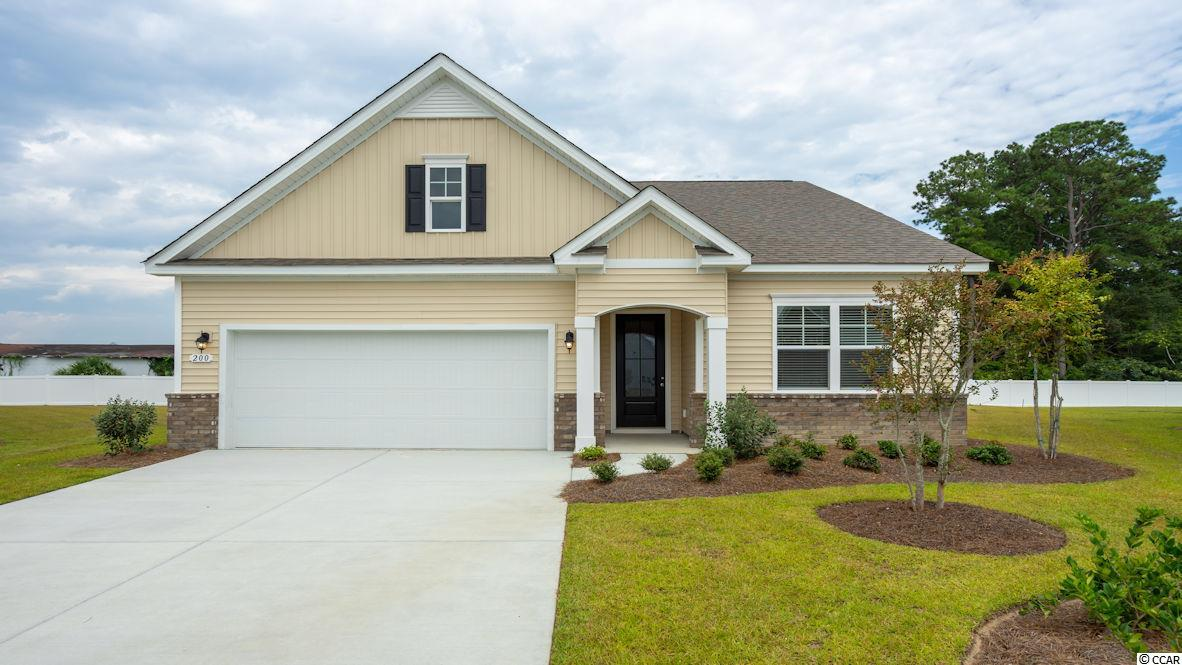 "The very popular Acadia floor plan is now available in our new, natural gas community! This home features a beautiful exterior with brick accent, an open layout with 9' ceilings, and a great definition of space. The kitchen boasts a large pantry and nice upgrades, including granite countertops, 36"" staggered cabinets, and stainless steel appliances with a gas range. The home also offers a covered porch off the rear of the home which is great for morning coffee! Conveniences like gas heat, a gas water heater, and our Home Is Connected smart home package are also included. Hidden Brooke is a beautiful community with an amenity that includes a pool with large deck area, clubhouse, exercise room, and a fire pit area.  Minutes away from Highway 31 which provides quick and easy access to all of the Grand Strand's offerings: dining, entertainment, shopping and golf!  Tranquil setting just a short drive to the beach. The amenity center and pool are open. *Photos are of actual home.   (Home and community information, including pricing, included features, terms, availability and amenities, are subject to change prior to sale at any time without notice or obligation. Square footages are approximate. Pictures, photographs, colors, features, and sizes are for illustration purposes only and will vary from the homes as built. Equal housing opportunity builder.)"