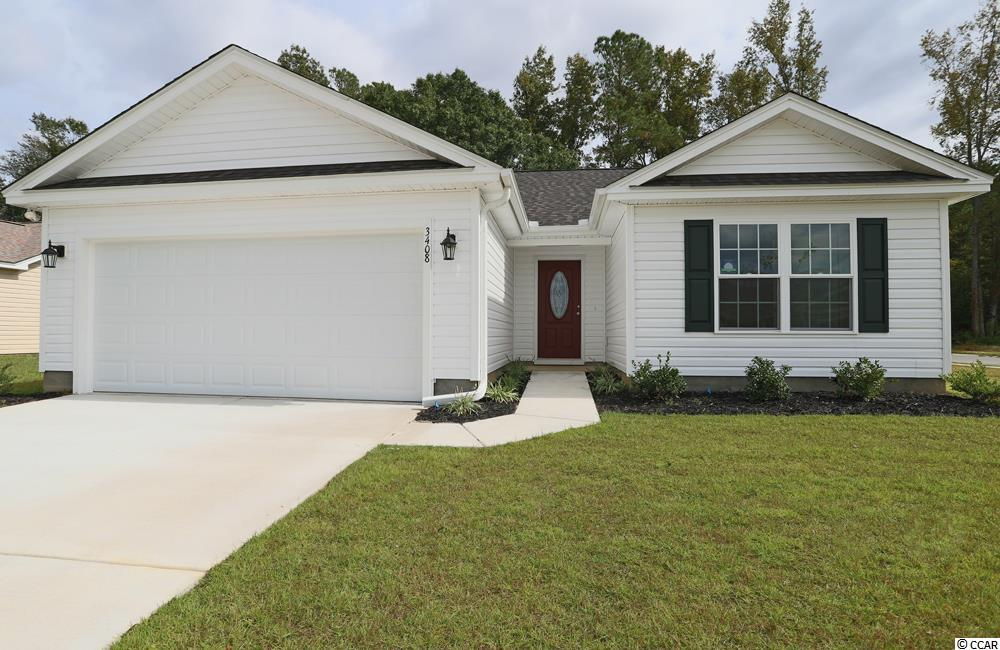 """JUST COMPLETED- The Dewees model in the Woodland Lakes Community in The City of Conway, SC. Features include but are not limited to 3 Bedrooms 2 Baths, Covered Rear Porch with Private Back Yard, 2 Car Garage, Great Open Floor Plan, Vaulted and Trayed Ceilings, 2 Ceiling Fans, Plant Shelf, and Vinyl Windows, Plans also include Separate 10x14 Concrete Patio, Sidewalks to Front Entry and Driveway. All of the Homes in Woodland Lakes Community come standard with the luxury of a Tankless Hot Water Heater, Gas Heat, Gas Stove and Oven. These new Homes also include 36"""" Profiled Kitchen Cabinets with Top Molding Trim and Door Knobs, Stainless Steel Appliances, Kitchen Pantry, Linen Closet, Completely Trimmed and Painted Garage with Drop Down Storage Access, which is Floored for your convenience, and Electronic Garage Door with Remote Openers. """"Low E"""" Energy Efficient Windows, Tankless Hotwater Heater, Upgraded Insulation Package, Landscaped, Sodded Yard, and so much more.  All of the homes in Woodland Lakes are built with a """"Maintenance Free"""" Lifestyle in mind. Woodland Lakes is South Conway's Newest Community conveniently located near Shopping, Medical Offices and Hospitals, Restaurants,  and Schools. The Builder DOES ALLOW CUSTOM HOME CHANGES!  Call or visit us online today and find out why This Builder is The Areas Premier Local Builder! Other Floor Plans, Inventory Homes and Custom Plans are Available. Call the Onsite Model for New Homes Availability and to make an Appointment to see Woodland Lakes."""