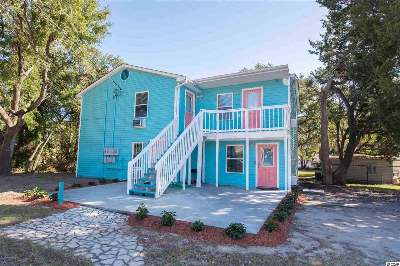 Check out this turnkey North Myrtle Beach rental property! Located just one block from the beach, downtown NMB, and the OD Pavilion this is an ideal location to grow or start your investment portfolio. This 4 unit building consist of two, two bedroom units (650+ sq/ft/unit) and two studio units (370+ sq/ft/unit). All units have been remodeled since previously purchased including electric, plumbing, Heating/Air, Roof new Nov. 2018, and efficiency units retiled Jan. 2019. This building is ready-to-go. It is being sold furnished, and already has reservations set for this season. A chance like this to own an income producing property on the Grand Strand does not come along often. For the right investor, it is sure to be an excellent opportunity.