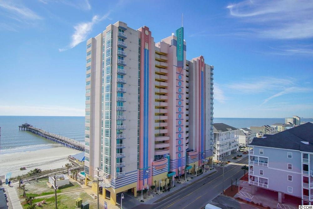 Nicely appointed, spacious one bedroom end unit in one of Cherry Grove's most popular ocean front resorts. Granite counter tops, tiled floors in living area, ceiling to floor windows and a true entry/foyer add to the appeal of this condo. Just perfect for a getaway spot to pamper yourself in luxury or for income investment. Bright and sunny with neutral decor and wonderful side-view of both ocean and the inlet. You and your guests will enjoy the best of all the beach has to offer when staying in this condo: Onsite restaurants and lounge with ocean views, indoor and outdoor pools, hot tubs, lazy river, ocean-front fitness rooms, the famous Cherry Grove Pier and one of the most pristine beaches on the Grand Strand!