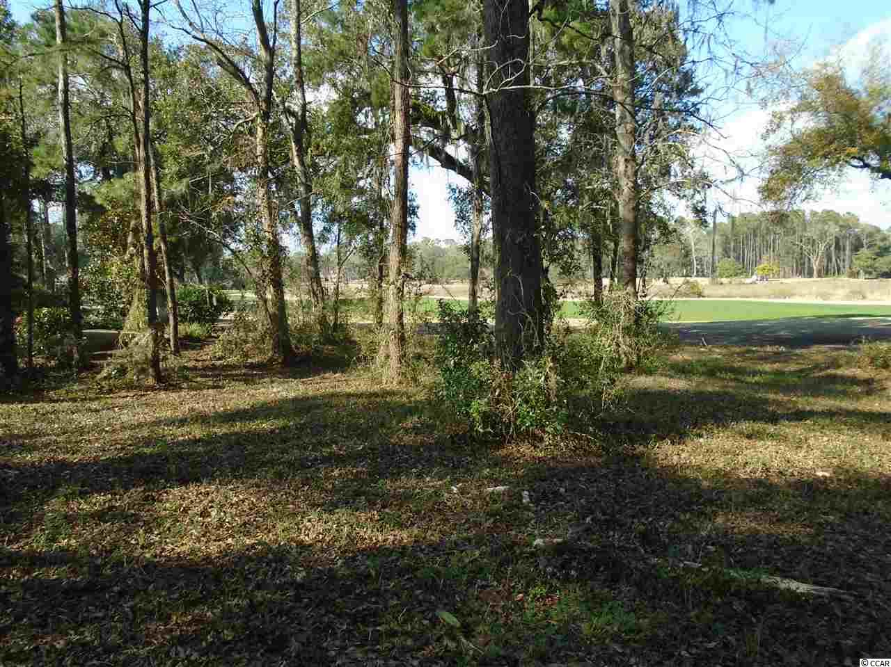 Beautiful wooded homesite--elevated with magnificent views of fairway and salt marsh with a distant view of historic old Pawleys Island. Measurements are: 74x181x79x169 (.399 acres). Slither of wetlands on right back corner near golf course and would not impede on building envelope. Pawleys Plantation is a gated community on the east side of Ocean Hwy. 17 and the golf course is a Jack Nicklaus Signature. Plot plan is in associated docs. No time to build and no specific builder. Shopping, dining, the beach and many other golf courses are nearby. The historic city of Charleston is 90 minutes to the south and Myrtle Beach is 45 minutes north.