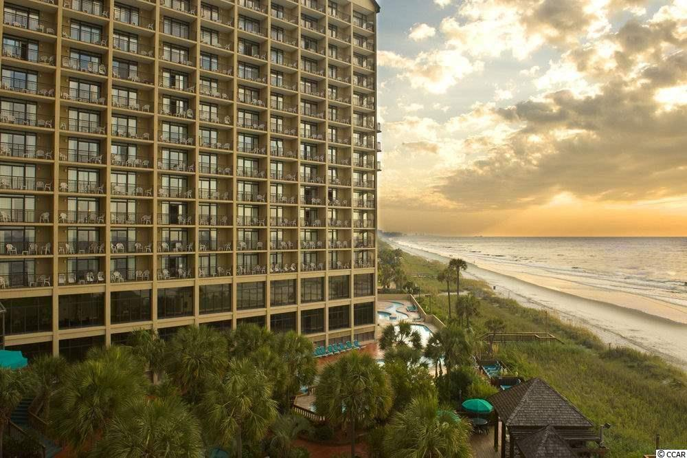 Direct oceanfront unit, fully furnished and updated, with new vinyl flooring and paint throughout. Seller is in the process of painting a light gray to match the floors. Pictures will be updated as soon as the painting is finished. 1 bedroom and 1 bath in the desirable Beach Cove Resort. Features a full kitchen equipped with full sized black appliances, granite counter tops, a dining area, and pull out sofa for added sleeping space, two queen size beds in the bedroom, granite and double sink vanities and a shower/tub combo in the bathroom. Enjoy miles and miles of direct views of the beautiful Atlantic Ocean from your 14th floor balcony, the living room or bedroom! Beach Cove Resort offers superior amenities including outdoor pools, hot tubs, indoor pool, lazy river, racquetball court, shuffleboard, outdoor grilling area, bar/lounge, and covered parking. Front desk on site for all your guest's needs. Close to all of the Grand Strand's finest dining, shopping, golf, and entertainment attractions. On rental management program with Beach Cove Resort with excellent rental history.  Whether you are looking for an investment opportunity or a vacation getaway, you won't want to miss this opportunity to own at this spectacular resort! Schedule your showing today.