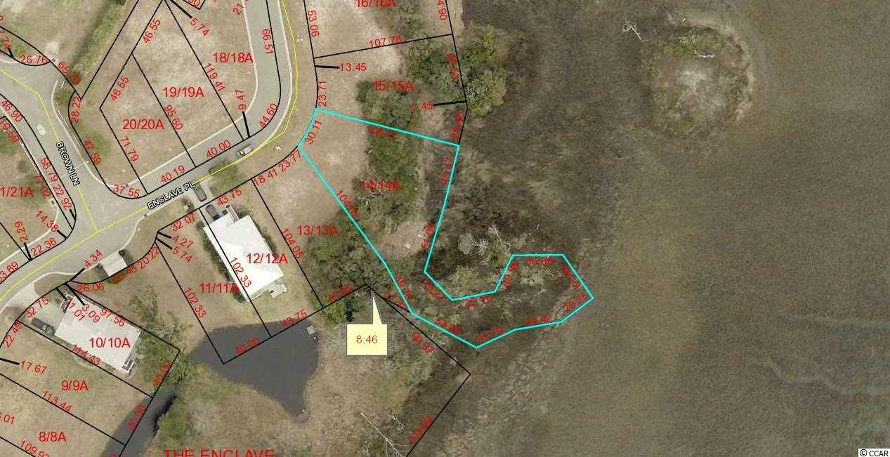 PRICE REDUCED! CREEK FRONT Lot in Gated Community East of Hwy 17. Lot 14 The Enclave.  Community Swimming Pool and Community Dock. Large, Irregular, Special.Lots 13, 14, 15, 16,17,18,19,20. Can be bought together for SET PRICE with quick closing.
