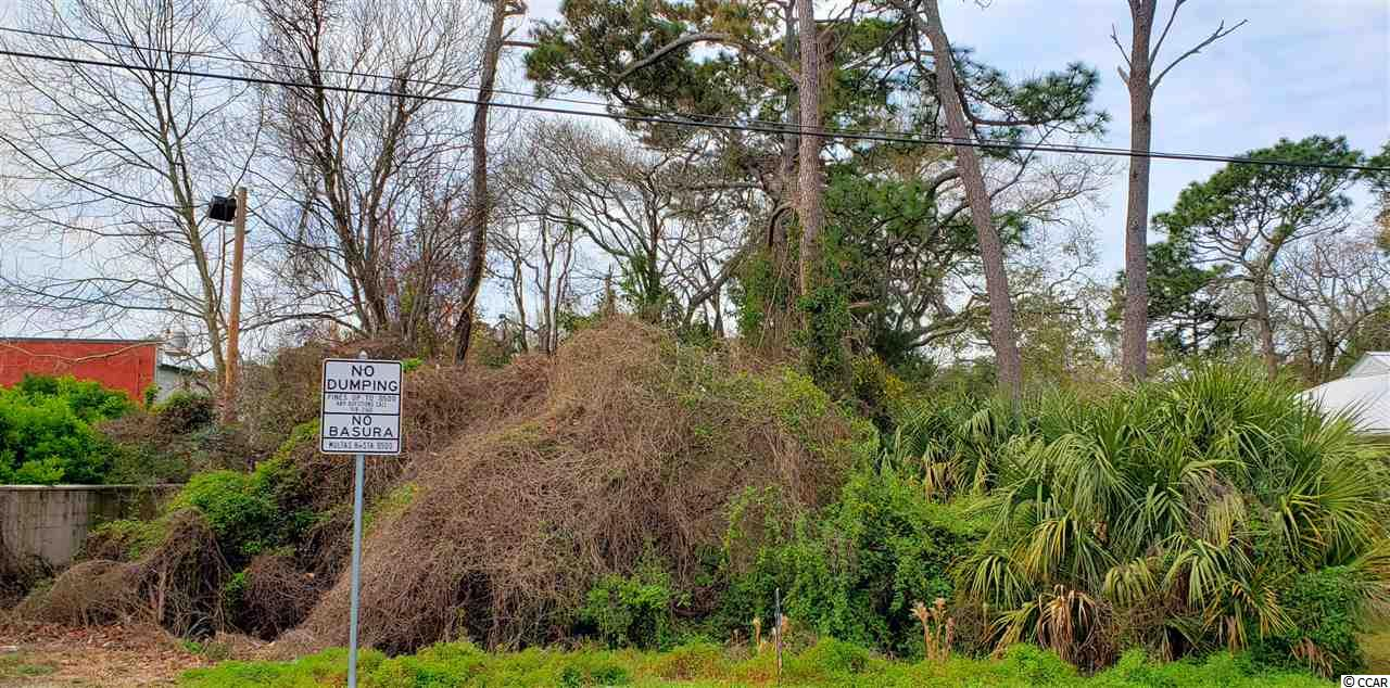 """Located just a few blocks to the ocean; this multi-use property can be either residential or multi-family. This wooded lot is a rare find in the Myrtle Beach area. Located in lower risk flood zone """"X""""."""