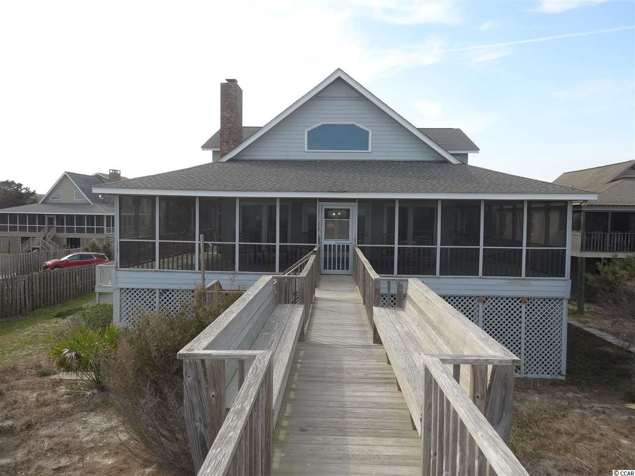 4 week interval available at Gray Man III, oceanfront on Pawleys Island, SC.  Don't miss you opportunity to own a share of this 5 bedroom and 4 bath home (sleeps 12 comfortably) with stunning views of the ocean, beach, and sand dunes.  Expansive screened in porch with plenty of seating, porch swing, and a hammock to enjoy the breathtaking sunrises while sipping on your morning coffee or winding down in the evening while enjoying your favorite beverage of choice.  Large great room with vaulted ceilings, wood burning fireplace, and large screen TV.  Kitchen with Silestone Quartz Counter Tops, breakfast bar, and plenty of room to cook your favorite low country meals.  Large master bedroom with flat screen TV, ceiling fan, 2 closets, and private master bathroom.  The 2 bedrooms upstairs each have their own private bathrooms as well.  Storage room underneath home for storage of your shared beach gear, bicycles, and an extra refrigerator for storage.  Laundry room off of kitchen, each bedroom has a ceiling fan, and loft area for game playing and extra living space.  Walkway decking to beach with multiple bench areas to relax and take in the ocean air and outdoor shower to rinse off after your time on the beach.  Close to area restaurants, night life, shopping, and championship golf courses.