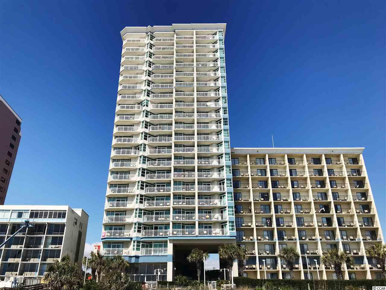 Welcome to The Carolinian Beach Resort.  Located in the heart of the downtown area. This location is second to none.  This upscale turn key condominium is only one of twenty oceanfront TRUE one bedroom units and comes fully furnished. Some recent upgrades include a brand new HVAC less than one year ago, New Refrigerator, Microwave, Granite Counter Tops, Sofa, Hallway Sconces, and carpet in the living room and bedroom.  Brand new stove June of 2019 as well as a brand new stack washer/dryer in August 2019. The large bedroom offers very nice privacy and connects to the Jack N Jill bathroom. A ceiling fan also helps cool things down on those hot summer nights.  The Carolinian amenities include multiple pools, multiple hot tubs, lazy river and Fitness Center.  Make sure this condo is on your viewing list.