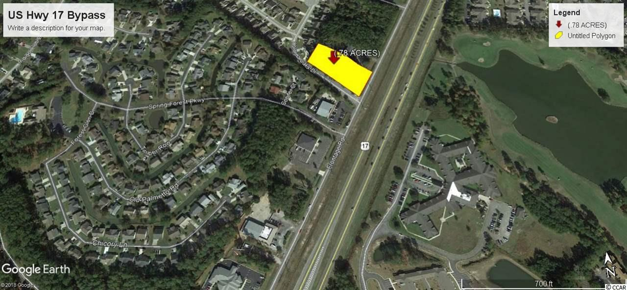 Corner Commercial Development site along US Hwy 17 Bypass at the entrance to Summerall Oaks. Easy access and egress via frontage road. Great visibility, Highway Commercial Zoning permits various business types.