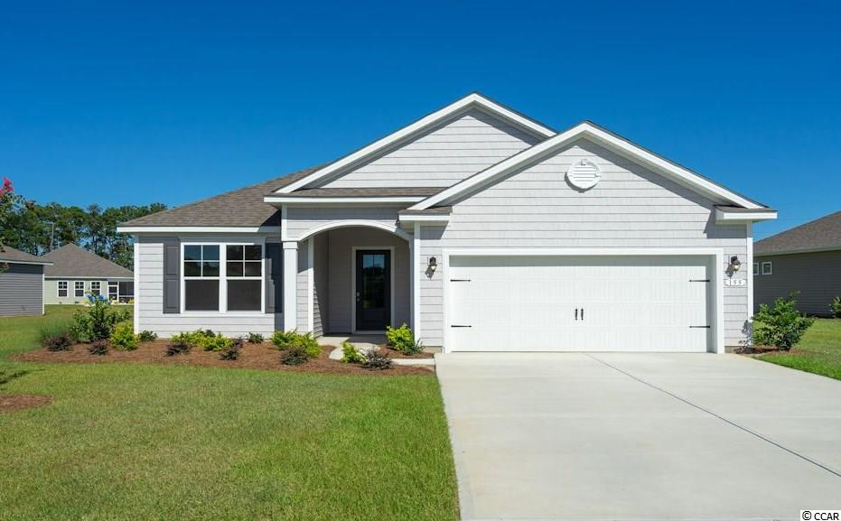 """Inlet Reserve is the place you want to call home! This is a natural gas community featuring 69 spacious homesites with private and pond views, conveniently tucked away in the heart of Murrells Inlet , yet just a short drive to championship golf courses, marinas, shopping, hospitals, beaches and the Marsh Walk where you'll find year round entertainment and award winning restaurants with spectacular views of the salt marsh and wild life.  If you are looking to downsize, upsize, or to add a pool and create your own outdoor living space, Inlet Reserve has the homesite and home for you.  We offer a mix of 1 story and 2 story thoughtfully designed open living floor plans, perfect for entertaining family and friends. The popular Eaton floor plan offers a very comfortable open feel and designed for entertaining. Lots of windows creating an abundance of natural light! This is a 1 story home with a cottage shake style elevation on the front, 3 bedrooms, 2 bathrooms, 10' ceilings, crown molding, 5 1/4"""" baseboard, trimmed out windows and 8ft. entry door.This home features a large kitchen area (a chef's delight) that offers tons of counter and cabinet space with 36"""" painted maple staggered cabinets with crown molding , granite countertops which includes a large gourmet island overlooking the family room, huge walk-in pantry, tile back splash, pendant lights and stainless steel appliances. This open floor plan is perfect for entertaining friends and family. Tile wood look floors throughout the main living area. Owners suite and bath offers a tray ceiling, walk-in closet, 5 ft. walk-in tile shower, double vanities and bowls. Split floor plan with 2 nice size guest rooms with a vaulted ceiling in BR 2. 8FT Sliding doors off the family room lead to a 9' x 26' screened covered porch with POND VIEW! EXTENDED GARAGE! Tasteful interior touches run throughout the house to finish off this must see home. New Community by D. R. Horton in popular St. James school district. Pictures are of a """
