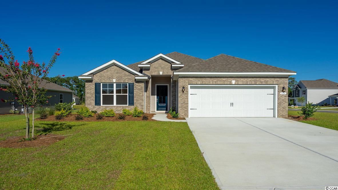 """Inlet Reserve is the place you want to call home! This is a natural gas community featuring 69 spacious homesites with private and pond views, conveniently tucked away in the heart of Murrells Inlet , yet just a short drive to championship golf courses, marinas, shopping, hospitals, beaches and the Marsh Walk where you'll find year round entertainment and award winning restaurants with spectacular views of the salt marsh and wild life.  If you are looking to downsize, upsize, or to add a pool and create your own outdoor living space, Inlet Reserve has the homesite and home for you.  We offer a mix of 1 story and 2 story thoughtfully designed open living floor plans, perfect for entertaining family and friends. The popular Eaton floor plan offers a very comfortable open feel and is perfect for entertaining. Lots of windows creating an abundance of natural light! This is a 1 story home with a brick front elevation, 3 bedrooms, 2 bathrooms, 10' ceilings, crown molding, 5 1/4"""" baseboard, trimmed out windows and 8ft. entry door.This home features a large kitchen area (a chef's delight) that offers tons of counter and cabinet space with 36"""" painted maple staggered cabinets , granite countertops which includes a large gourmet island overlooking the family room, huge walk-in pantry, glass tile back splash, pendant lights and stainless steel appliances. Wood floors throughout the main living area. Owners suite and bath offers a tray ceiling, walk-in closet, 5 ft. walk-in tile shower, double vanities and bowls. Split floor plan with 2 nice size guest rooms and a vaulted ceiling in BR 2. 8FT Sliding doors off the family room lead to a 9' x 26' covered porch with POND VIEW and water fountain! EXTENDED GARAGE! Tasteful interior touches run throughout the house to finish off this must see home. New community in the popular St. James school district. Ask about our included Smart Home Connection! Call and schedule your appointment today!"""