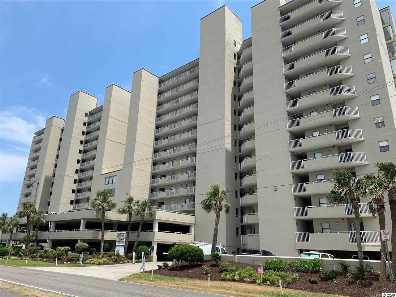 This amazing ocean front condo located in Garden City's premier condomenium complex is 3 bedrooms with 3 bathrooms.  The unit has an ocean front Master Suite with private bath along with a wrap around balcony. This using has a new A/C, Hot water heater, and appliances.