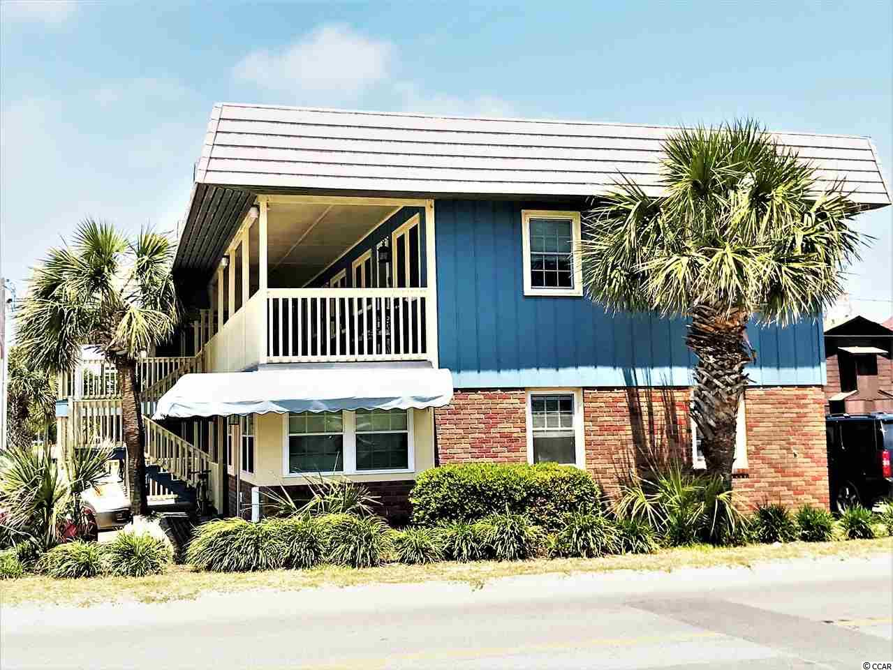 """LOCATION, LOCATION, LOCATION!! Enjoy the ocean breeze sitting on the front porch or relaxing on the sofa in this ADORABLE 2nd floor Cherry Bay condo, located directly across the street from the ocean in sought after Cherry Grove Beach.  This extremely well maintained unit is fully furnished and move-in ready with a queen-sized bed and queen-size futon sleeper sofa easily sleeps 4.  Steps away from the beach!  For  an investor or someone just wanting a """"place at the beach"""" for a little R&R, or both!!"""