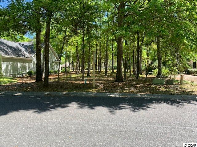 One of the few remaining lots in Tidewater with a fabulous golf course view fronting on the 14th tee, your view spans the 14th fairway. The rear of this lot fans out to give a pleasant wooded area for your future backyard. No time frame to build. Owning the lot gives you access to the Tidewater amenities including the pools, fitness center, tennis courts, boccie,  and  Oceanfront Cabana with full facilities and kitchen, located on Cherry Grove with 24 hour security.