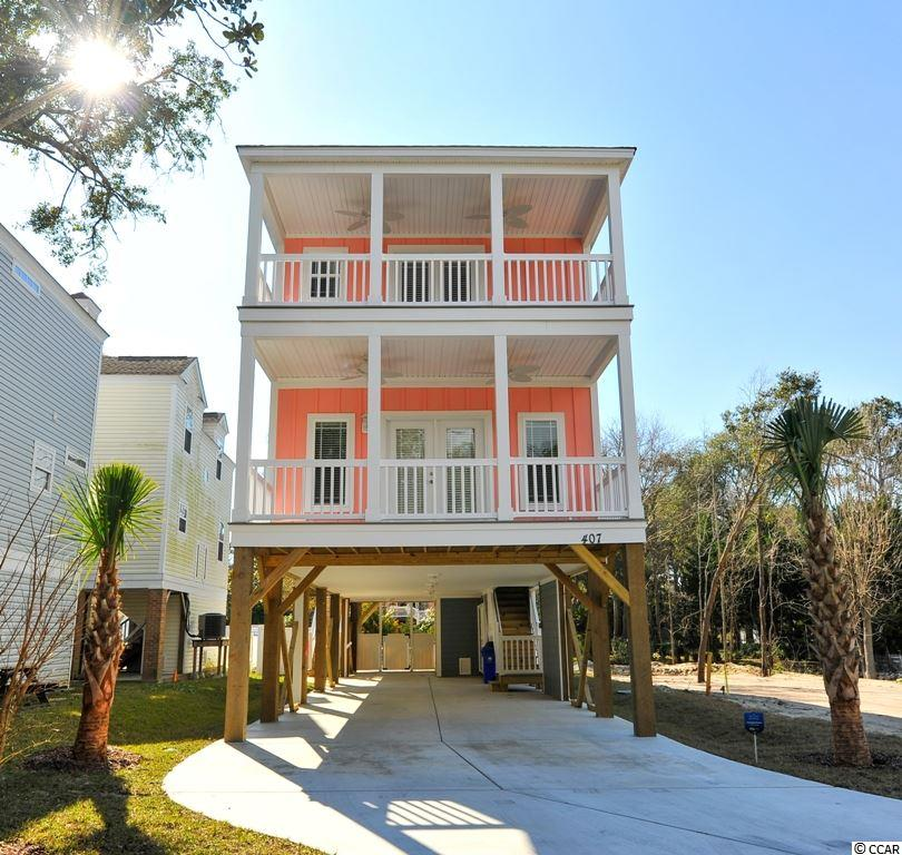 The new construction home will be in the vacation rental district. Perfect for an investment property, 2nd vacation home, or primary residency. The floor plan features 7 bedrooms, 4 covered porches, an open concept living/dining area and an elevator to all floors! This house will sell quickly!