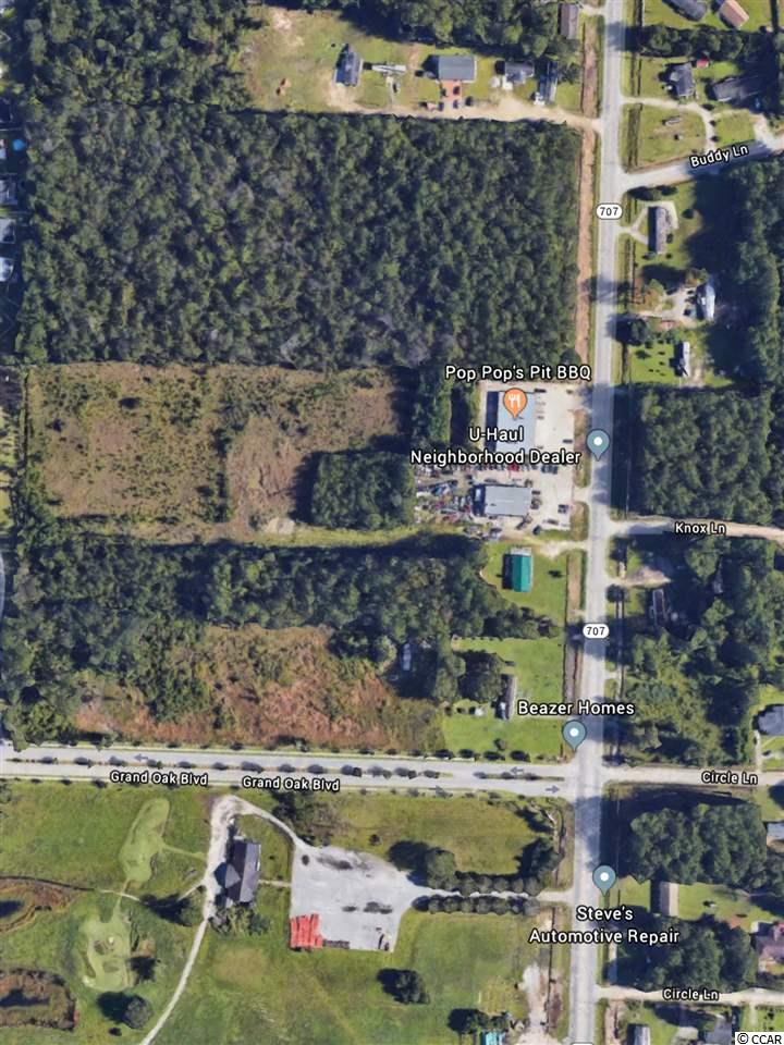 The 4 lane construction of HWY 707 is now complete. This is your opportunity to own land in this developing area of Myrtle Beach. Located just below the new 31 by-pass connector on 707, this commercial property will be evermore valuable in the near future. Now, is your opportunity at an excellent price for you to own over 4 acres of prime real estate!