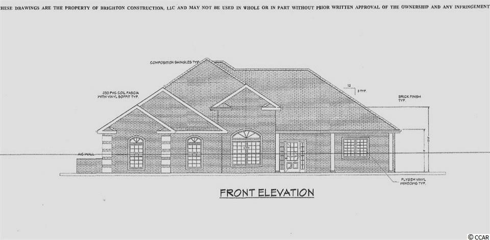 Beautiful To Be Built,  ALL BRICK,  3 bed,  2 1/2 Bath home, plus Large Family Room, Formal Dining, breakfast area plus Study. Granite Counters in Kitchen and baths, tiled showers and bath tubs. Home has a large 2 car garage, rear covered porch and front covered porch.    Ask your agent to see the builder spec sheet and plans for this home.    Wild Wing Plantation has 27 holes of golf,  Beautiful Club house and amenity center that includes a huge pool, tennis courts, basketball courts and day dock.   Wild Wing Plantation is convenient between Conway and Carolina Forest,  just minutes from the beautiful Atlantic, Shopping and Restaurants.