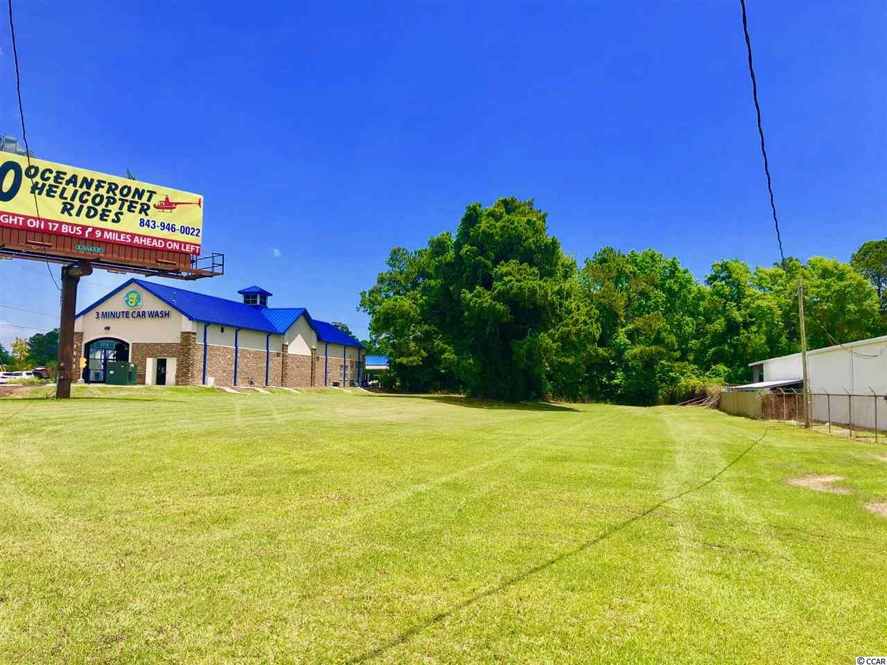 Located at the intersection of HWY 17  South and HWY 707 this .81 acre lot with 149 ft of road frontage gives you maximum traffic exposure  and visibility ( Over 60 K cars daily )!  Possible build to suit with right tenant !  Just 2 minutes to Famous Murrell's Inlet Marsh Walk Restaurant & Entertainment District !