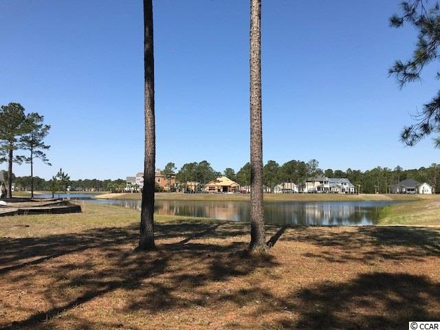 Beautiful lot in the gated community of Waterbridge. This lot offers water views and an easy walk to the pool and amenity center.  All the homes are custom built with no time frame to build. Choose your own builder when ready. Amenities include an amazing pool area, fitness center, walk down fire pit, swim up refreshment bar, tennis courts, volleyball and basketball courts,  boat ramp and pier. Located in the heart of Carolina Forest.