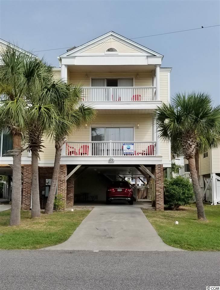 Beautiful and Convenient location Only 4 house-lengths to the Ocean in the Town of Surfside Beach! Very Spacious raised beach home with 5 Bedrooms, 4.5 Baths with large Private Pool (19x9) and yard! Double porches facing East... Feel that ocean breeze! Huge kitchen space, dining, living and master bedroom are also huge and located on main 1st level along with master bathroom, extra storage closets, pantry space and half bath! Upstairs are 4 bedrooms and 3 Full baths. Selling furnished as seen with gas grill included (exception of closets and storage room contents and personal items.) Sleeps and Dines 14 people including sofa pullout. Non-smoking home. Tons of closet space and storage space! Large parking space underneath home and in driveway 5+.