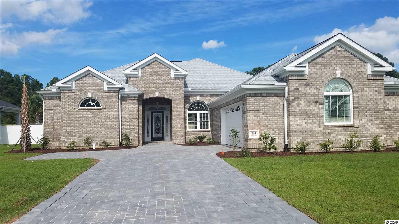 Location , location, location. Upscale, gated spec home currently under construction. Estimated to be completed by October 2019. This is a 4 bedroom, 2 bath, split floor plan, all brick floor plan.  Waterfall is a 1 mile circle, beautiful gated community built around an 8.5 acre stocked lake only 8 minutes from beach front. With low POA fees, this community consists of the lake on which you can have a non gasoline boat to fish or relax in, a pool, a fitness center and a club house with a lounge and full kitchen plus an outdoor kitchen. Add to this it is less than a mile to the North Myrtle Beach Sports Park where you can take your visitors to walking trails, sporting events, a zip line park, water wave jumping, picnics and concerts.