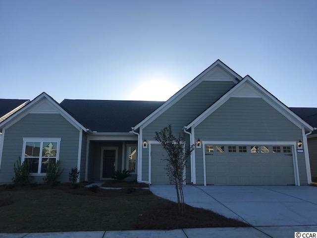 Dunwoody Way Floorplan with 2-car garage and golf cart storage garage.  3 Bed, 3 Bath two-story with Flex/Study room, Sunroom, Screened Lanai, and loft/bonus room. Fireplace in Gathering Room.