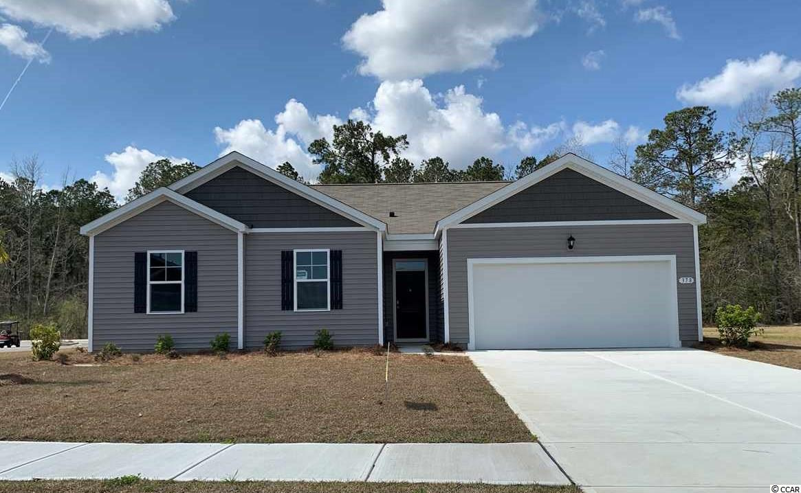 Reflections is a great new NATURAL GAS community in the popular Carolina Forest School District.  Just 20 minutes to the beach or the shopping & restaurants of Carolina Forest/Myrtle Beach.  LOCATION, LOCATION, LOCATION!  CLOSE TO EVERYTHING! IT'S A LIFESTYLE!  This is the Alston plan: a spacious 3 bedroom, 2 bath ranch.  Wood-look floating floor is a low-maintenance alternative to hardwood, and is located throughout the home, including wet areas (carpet in the bedrooms).  Fabulous walk-in pantry, upgraded granite countertops and island with breakfast bar.  Pendant lighting in kitchen.  Stainless Frigidaire kitchen appliances are standard, including refrigerator.  Washer & dryer included as well.  ENORMOUS walk-in master closet.  Covered porch overlooks a private, wooded lot!  Location is fantastic for families & beach lovers.  Jump in the car and you're at the beach in under 20 minutes!  Enjoy life.  Pool & amenity center with workout room included in the cost of the HOA.  This would make a fabulous secondary or primary home. NATURAL GAS COMMUNITY!  **PLEASE NOTE THIS HOME IS UNDER CONSTRUCTION AND THE PICTURES OF THE INTERIOR ARE OF A SIMILAR HOME IN THE COMMUNITY, PICTURES WILL BE UPDATED ONCE THE HOME IS COMPLETE.