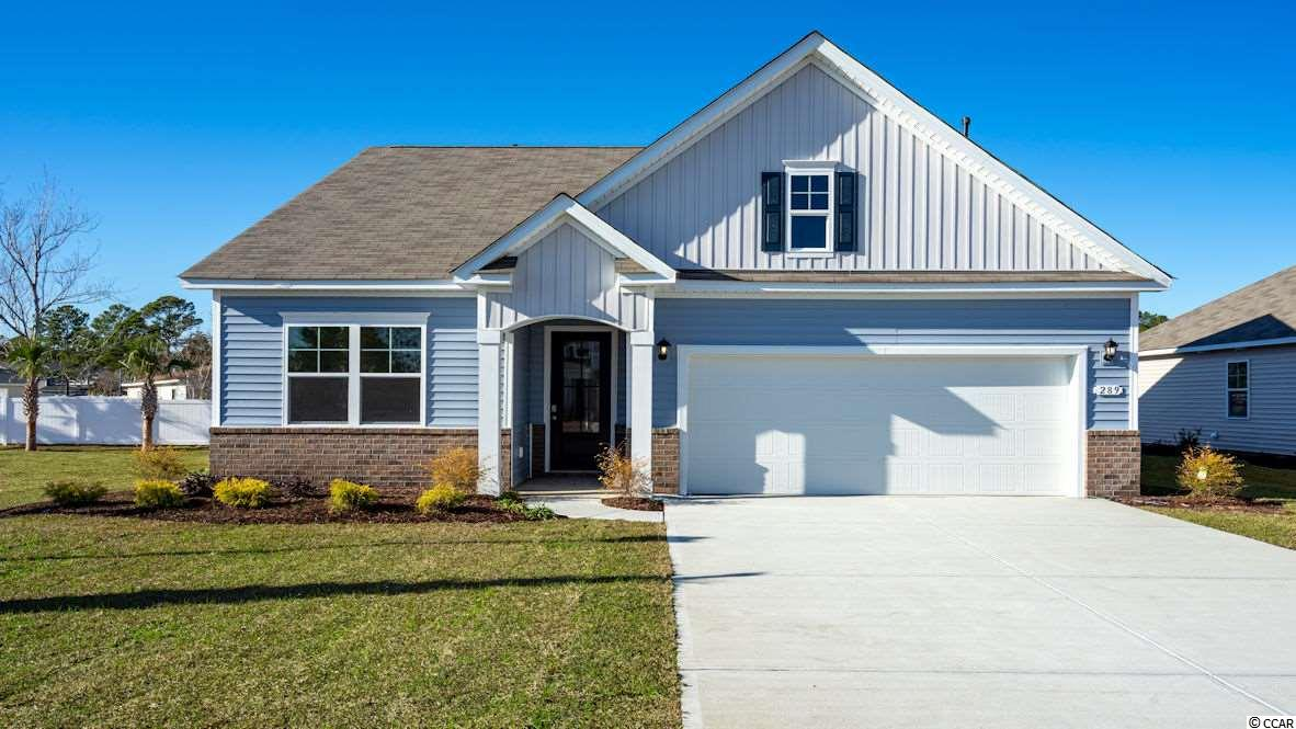 LOCATION LOCATION LOCATION!! New Acadia floor plan with 3 BR's and 2 baths. Gas fired furnace with electric AC unit and gas water heater. Single level living, all the extras included such as hardwood and tile floors, granite counters, upgraded cabinets.. stainless appliances with a gas range. This brand new home will come with our SMART HOME PACKAGE! This includes a keyless entry pad, front doorbell camera, 8-inch monitoring screen, 2 amazon echo's, a Honeywell T6 pro thermostat, and a alarm app!  One app brings the (Home is connected) system together, so no matter where you are, your home is at your fingertips with this incredible app!  Located approximately 1 mile to the beach and this community is golf cart friendly!  Approximately 4 miles to Market Commons and less than 6 miles to Murrells Inlet Marsh Walk.  *Some photos and virtual tour are of a similar home**