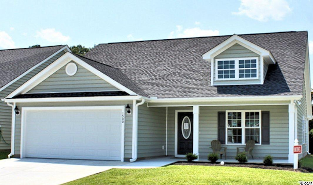 Walnut plan, to be built. Oak Grove is a new small community just off Hwy 378 in Conway. Large 1/2 acre lots. No HOA Fee. This great floorplan has a low country covered front porch and a 10'x9' rear screened porch, large great room has vaulted ceiling with fan/light, open floor plan. Kitchen has custom built wood cabinets with knobs and crown molding, stainless steel appliances including gas range, and pantry. Master bedroom suite has tray ceiling, ceiling fan, walk-in closet, double sinks, raised height vanity and a 5 ft walk-in shower. Bedroom 3 has a walk-in closet. Rannai tankless gas water heater. Natural gas. Our homes are built with a minimum 9' smooth ceilings, 30 year architectural roof shingles, sodded yard includes irrigation system, fully finished and painted garages with automatic door opener and pull down stairs to attic storage plus gutters. Can park your RV or Boat at your house. Natural gas available. Just 30 minutes away from Myrtle Beach and all the fun, food and entertainment you expect. Photos are for illustrative purposes only and may be of similar house built elsewhere. Square footage is approximate and not guaranteed. Buyer is responsible for verification.