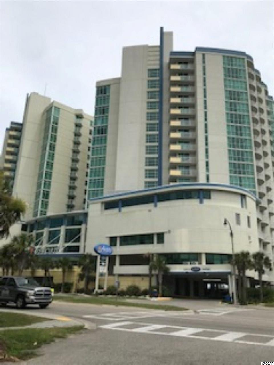 """This oceanfront 2 BR/ 2 BA double bay """"F"""" style unit is rarely ever for sale a the Avista Resort. It has been completely upgraded to the """"GOLD"""" tier on the rental program. Located on the north end and on the 2nd floor, it has the higher 10' ceilings which makes it appear much more spacious. The higher ceilings, the ceiling to floor glass and balcony sliding doors offers an extensive view of the ocean. Upgrades include: granite kitchen countertop, granite bathroom vanities, granite LR table top, flat screen TV's, new carpet, new sleeper sofa and LR chairs, refinished DR table & chairs, refinished dressers and night stands with new hardware, new mattresses, new bedding and comforters, new draperies and stackable washer & dyer. The Avista us renowned for it spectacular amenities - indoor & outdoor pools, lazy river, onsite restaurant and exercise room.  The Avista is walking distance to all the bars and restaurants on Main Street as well as other actives offered by the City of NMB. Enjoy all the shagging venues literally steps away from their property. Don't miss your opportunity to own this highly sought after floor plan, and start out at the top of the rental tier maximizing the most of your rental revenue."""