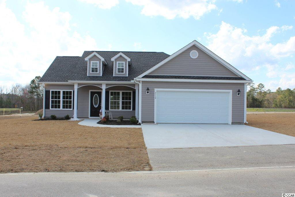 Oak Grove is a new small community just off Hwy 378 in Conway. Large 1/2 acre lots. No HOA Fee. This pre-sale Pecan house plan has a low country covered front porch and rear screened porch. The living room is open and has a vaulted ceiling. Kitchen has natural granite countertops, stainless steel appliances including a gas stove and breakfast counter/bar loaded with space and storage plus a pantry. Dining area is open to the kitchen and family room. Master bedroom suite has tray ceiling with ceiling fan, 2 walk-in closets, double sinks, raised height vanity, 5' walk-in shower and a linen closet. Bedroom 2 has been expanded an additional 2 ft. Gas heat and gas tankless water heater. Our homes are built with a minimum 9' smooth ceilings, 30 year architectural roof shingles, sodded yard includes irrigation system, fully finished and painted garages with automatic door opener and pull down stairs to attic storage plus gutters. This property is pending but we have others. Can park your RV or Boat at your house. Natural gas available. Just 30 minutes away from Myrtle Beach and all the fun, food and entertainment you expect. Photos and video are for illustrative purposes only and may be of similar house built elsewhere. Square footage is approximate and not guaranteed. Buyer is responsible for verification.