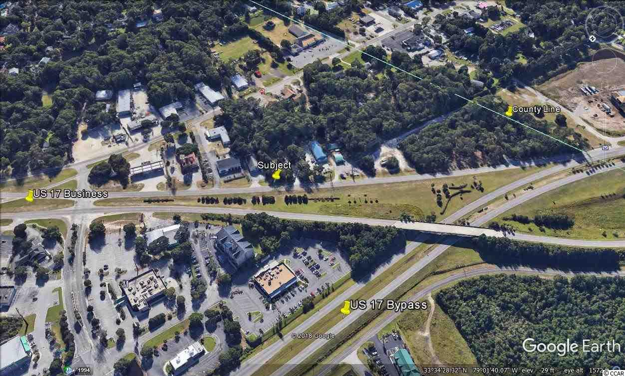 East of Highway 17 Business, Murrells Inlet, SC  +/- .36 acres, Estimated Frontage +/- 67 feet, estimated depth +/- 340 feet.  Highway Commercial Zoning.  High traffic count, good visibility.  Premier destination retail or service location.