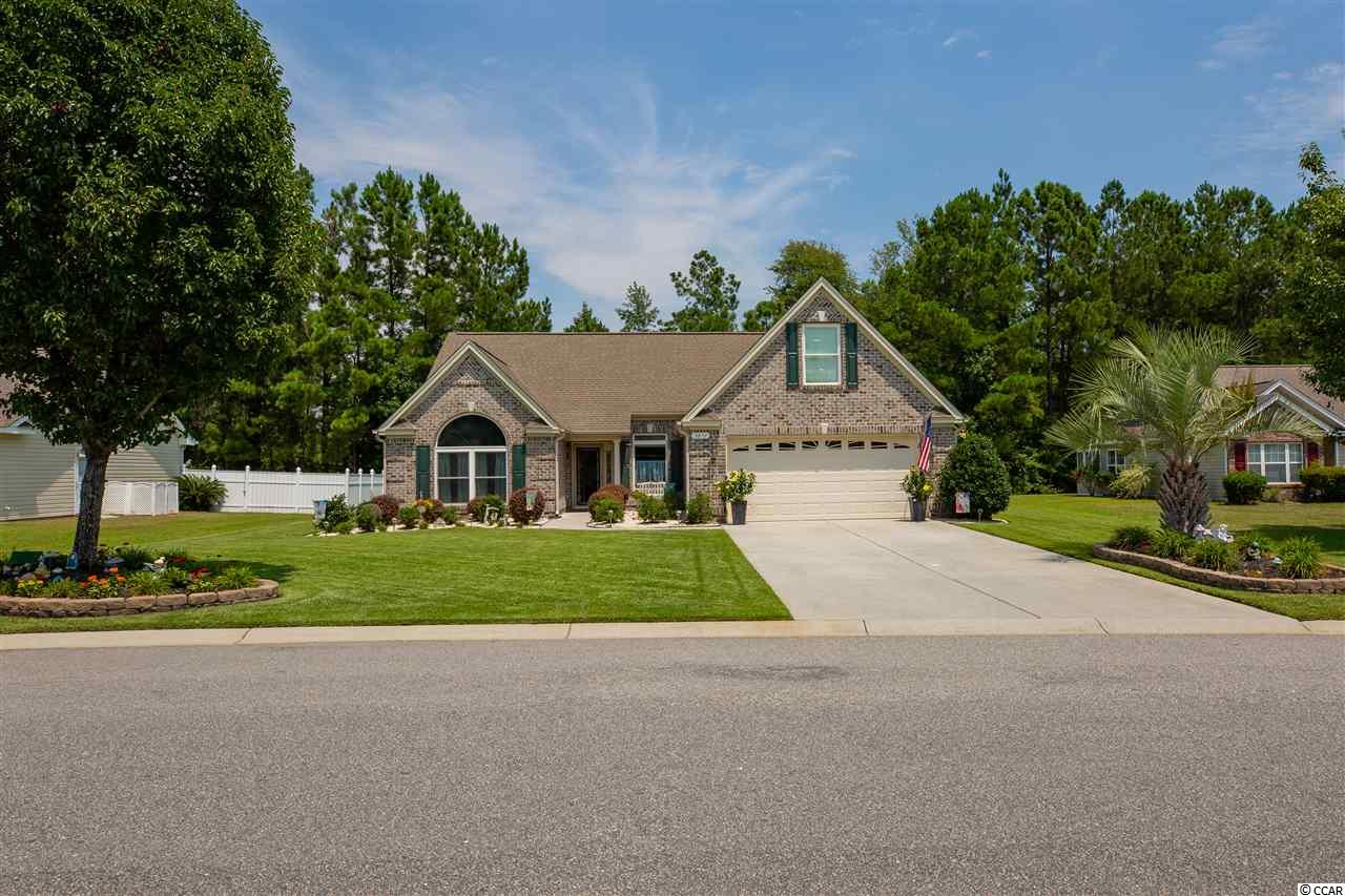 Custom Built Brick Home in Steeple Chase with lots of curb appeal and mature landscaping. Pride of ownership is evident throughout this immaculate one owner home. It sits on a .25 acre lot, backing up to woods, providing lots of privacy. Imagine yourself catching summer breezes under the gazebo. Quality construction and many upgrades inside including crown molding, 10ft ceilings, and beveled glass windows letting in lots of natural light. New wood laminate scratch and water resistant floors. Recently installed Radiant Barrier in attic makes this house very energy efficient. Large master suite with stand up shower, jetted tub, dual vanity and two closets. The 4th Bedroom over garage with private bath has many use options. Close to schools. Home warranty. Low HOA covers the beautiful pool and new clubhouse. This one is a must see!