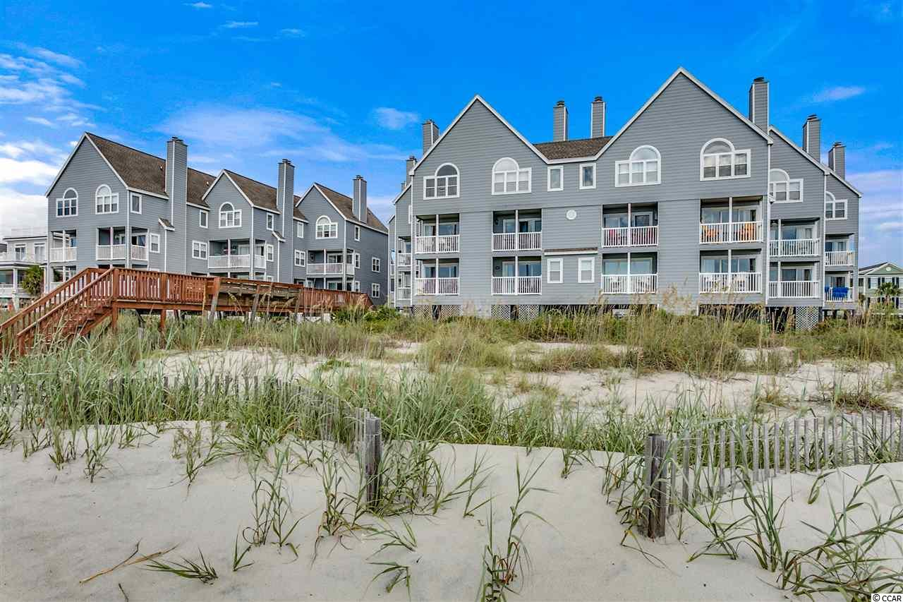 Closing scheduled for 11/13/19. 109 Cape Coddages I, is a direct oceanfront first floor, two-bedroom and two full bathroom, end unit condo with approximately 1035 heated square feet. The large oceanfront living room and dining areas lead to a private balcony featuring views of the beach and ocean. The remodeled kitchen features painted cabinets, quartz countertops, and stainless-steel appliances. Each bedroom has a ceiling fan and flat-screen television. The master bedroom is oceanfront with an ensuite bathroom and direct balcony access. This condo is turnkey furnished and ready to serve as your retreat at the beach. Cape Coddages I has 21 units and is a well maintained and managed complex offering each owner private ground level storage, a large oceanfront pool, and sundeck. Each unit has two parking spaces. Why rent when you can own your very own piece of the Grand Strand.