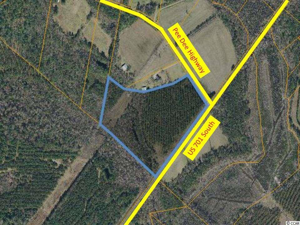 Property is Located at the corner of Pee Dee Hwy and 701 South, Zoned CFA, and is in the path of progress. CFA zoning allows for multiple Residential and Commercial Uses.