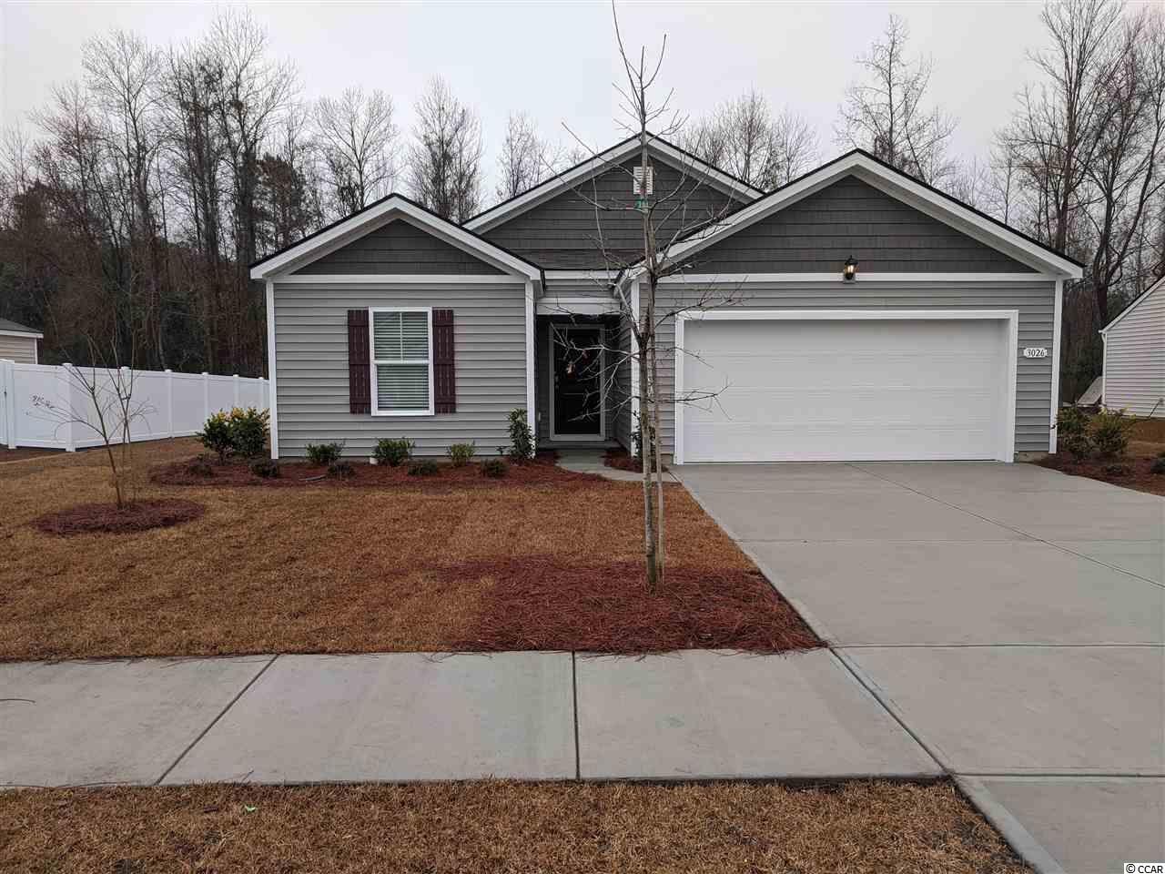 The Macon is a one level home with 3 BR 2 Bath, 1343 heated sq. ft. plus a 2-car garage with an open floor plan that features a comfortable kitchen which opens to your large living/dining room which is perfect for entertaining. Granite counters, pantry and stainless appliances. Low maintenance luxury floating vinyl wood plank floors throughout main living room, kitchen, both baths and the laundry room.  The owner's suite is located off the back of the home and offers a large walk-in-closet and Master Bath with 5 ft. walk-in shower, and cultured marble vanity top. Oak Glenn features large home sites with a minimum of 20 ft. of separation between homes. The community is located within minutes to Historic Downtown Conway, shopping, restaurants, and the River Walk. Pictures and virtual tour are of the same plan model home and are for illustration purposes only. Home to begin construction in August with estimated completion in mid-fall. You may still have time to make your own color design choices!! Pictures and virtual tour are of a Macon plan in another on of our Express Communities.  Home and community information, including pricing, included features, terms, availability and amenities, are subject to change and prior sale at any time without notice or obligation. Square footages are approximate. Pictures, photographs, colors, features, and sizes are for illustration purposes only and will vary from the homes as built.  Equal housing opportunity builder.