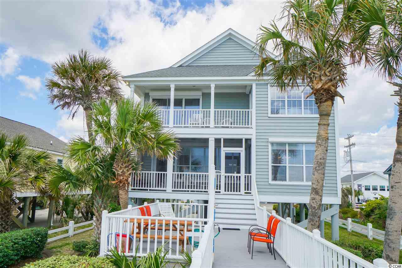 This 6-bedroom, 4.5-bathroom oceanfront home on Garden City Beach has endless, unobstructed views of the Atlantic Ocean and a private walkway to  beach from deck.  Open kitchen/dinning/living area to enjoy the views with family and friends. The oceanfront living area features solid oak flooring, a gas fireplace, built-in cabinets, wet bar, and crown molding. Bedroom/bathroom layout: first level features two bedrooms with a shared Jack/Jill bathroom and a third room that is used as a child's bedroom but could serve as an office; the second level features four bedrooms and three bathrooms.  The master bedroom and one other upstairs bedroom are oceanfront with access to a second floor covered porch to take in the beach/ocean views.  The master suit features a sitting area, double vanity, Jacuzzi tub, and a walk-in tile shower.  Additional features of the home include: 3 covered porches, metal roll-down hurricane shutters, full size laundry room, smooth ceilings and crown molding throughout, tile floors in all bathrooms, solid oak floors in living/dinning/kitchen, maintenance free Trex decking, bedding setup to accommodate 14 guests, ample parking for 6+ vehicles, 1 (original) owner.  New roof and HVAC units within the last few years. Good rental, but adding a pool, which should be a possibility, would drastically increase annual rental income.